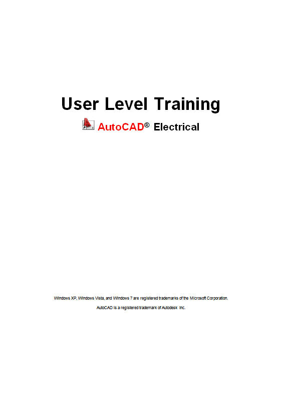 AutoCAD Electrical user-level training